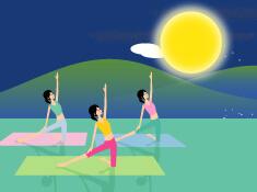 月のリズムは女性のバイオリズム。お月様の下、ココロもカラダもリフレッシュするお月見YOGA開催!
